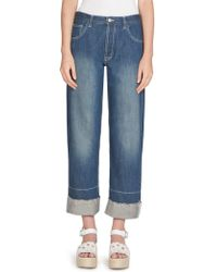 Loewe - Embroidered Pocket Jeans - Lyst