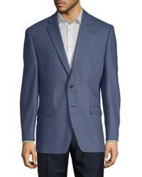 Calvin Klein - Mini Grid Slim-fit Wool Jacket - Lyst