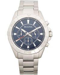 Bulova Stainless Steel Chronograph Watch - Multicolour