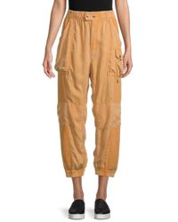 Free People Women's Safari High-waist Sweatpants - Brown - Size L