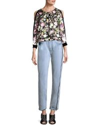 6283f333867ccb 3.1 Phillip Lim - Meadow Floral Silk Cold-shoulder Top - Lyst