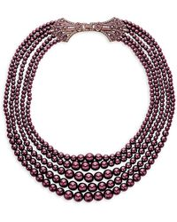 Heidi Daus Bead & Crystal Rhinestone Deco Clasp Multi-strand Necklace - Multicolour