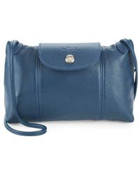 Longchamp - Le Pliage Cuir Leather Crossbody Bag - Lyst