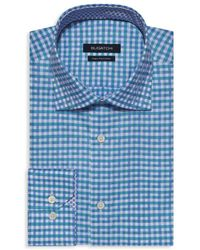 Bugatchi Slim-fit Gingham Dress Shirt - Green