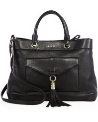 MILLY - Astor Leather Tote - Lyst