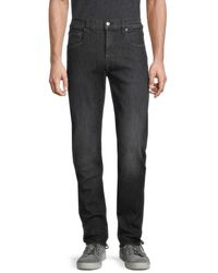 7 For All Mankind Adrien Slim-fit Tapered Jeans - Black