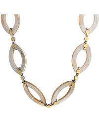 John Hardy 18k Yellow Gold & Sterling Silver Buffalo Horn Link Necklace - Metallic