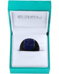 Effy Black Rhodium-plated Sterling Silver & Blue Sapphire Ring