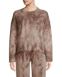 ATM French Terry Tie-dye Sweatshirt - Brown