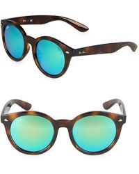08f6fb2375 Lyst - Ray-Ban Unisex Rb4202 55mm Polarized Sunglasses in Brown