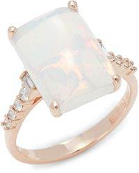 Effy 14k Rose Gold, Opal & Diamond Ring - Multicolour