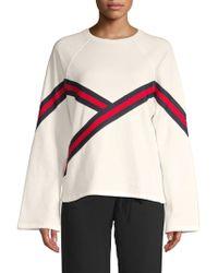 Lea & Viola - Striped Cotton Sweater - Lyst