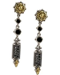 Konstantino - Asteri Black Diamond, Black Onyx And Sterling Silver Drop Earrings - Lyst