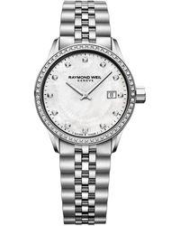 Raymond Weil Freelancer Ladies Stainless Steel Bracelet Watch - Metallic