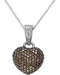 Effy Espresso Diamond, Diamond & 14k White Gold Pendant Necklace - Metallic