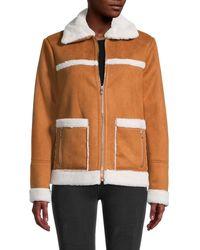 Sam Edelman Faux Suede & Faux Fur-trimmed Jacket - Multicolor