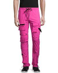 American Stitch Tactical Cargo Sweatpants - Pink
