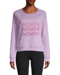 Rebecca Minkoff Graphic Cotton-blend Sweatshirt - Purple