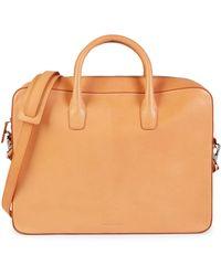 Mansur Gavriel Cammello Leather Briefcase - Multicolor