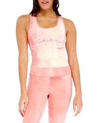 Electric Yoga Women's Love Tie-dyed Tank Top - Pink - Size M