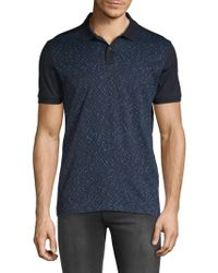 BOSS - Phillipson Printed Cotton Polo - Lyst