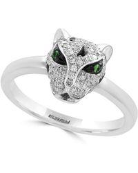 Effy - Signature Diamond And 14k White Gold Animal Motif Ring - Lyst