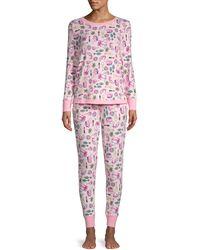 Jane And Bleecker 2-piece Printed Pyjama Set - Pink