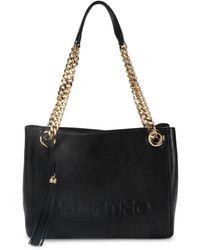 Valentino By Mario Valentino Women's Luisa Sauvage Leather Shoulder Bag - Black