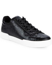 Kenneth Cole Tylen Textured Leather Sneakers - Black