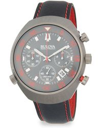 Bulova - Accutron Ii Stainless Steel And Leather-strap Watch - Lyst