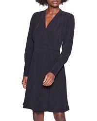 Equipment Claira Sparkle Wrap Dress - Black