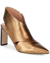 Sigerson Morrison - Halima Pointed Leather Heels - Lyst