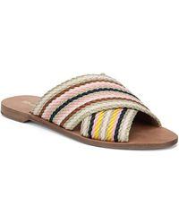 Diane von Furstenberg Cindi Slide Sandals - Blue