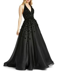 Mac Duggal Women's Floral Ball Gown - Black - Size 2