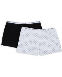 Calvin Klein 2-pack Logo-print Boxer Shorts - White