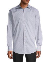 Bugatchi Regular-fit Pinstriped Shirt - White