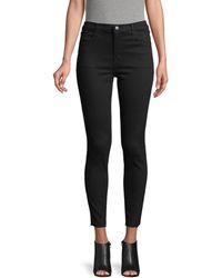 J Brand Alana High-rise Cropped Skinny Jeans - Black