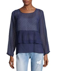 Plenty by Tracy Reese - Pleated See-through Top - Lyst