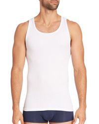 Calvin Klein Men's 3-pack Cotton Classics Tanks - White - Size S