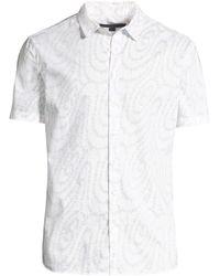 John Varvatos - Classic-fit Swirl Print Sport Shirt - Lyst