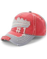 Lyst - True Religion Script Baseball Cap in Red for Men 58baf3ec0626