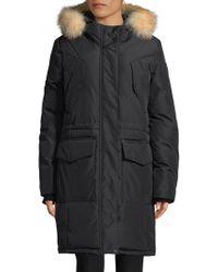Pajar - Crystal Fox Fur-trimmed Long-sleeve Parka - Lyst