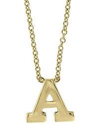 Effy 14k Yellow Gold Letter Pendant Necklace - Metallic