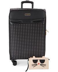Karl Lagerfeld 27.5-inch Spinner Suitcase - Purple