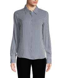 Philosophy Long-sleeve Striped Blouse - Blue