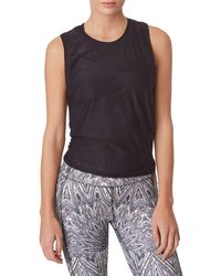 X By Gottex Camouflage Back-tie Tank Top - Black