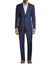 Saks Fifth Avenue - 2-piece Modern Fit Tonal Plaid Suit - Lyst