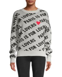 Zadig & Voltaire Anouk C Paris Is For Lovers Cashmere Jumper - Grey