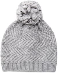 9cb903c5f5548 Lyst - UGG Cable Pom Beanie Cable Pom Beanie in Gray