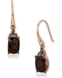 Le Vian - Chocolatier Diamond, Quartz & 14k Rose Gold Earrings - Lyst